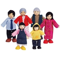 Hape Asian Dolls Family Set of 6