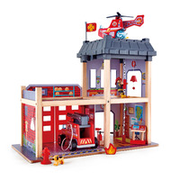 Hape Wooden Fire Station - Red