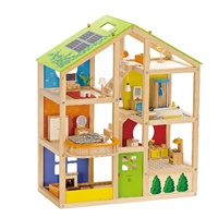 Hape All Seasons Dolls House - Furnished