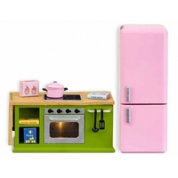 Lundby Smaland Stove & Fridge Set - Green