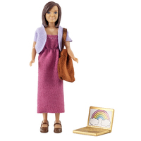 Lundby Mother Doll & Laptop