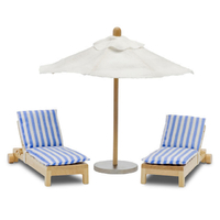 Lundby Stockholm Sunbeds and Sun Umbrella