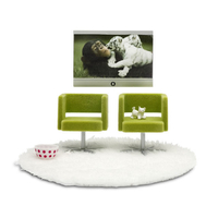 Lundby Stockholm Armchairs & TV Set