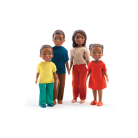 Djeco Miles And Lila's Family Dolls
