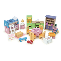 Le Toy Van Daisy Lane Starter Furniture Set - Plain Box with BONUS Budkins Doll