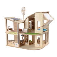 PlanToys Green Dolls house - Eco Design (with furniture)
