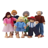 Voila Caucasian Family Set (6 Dolls)