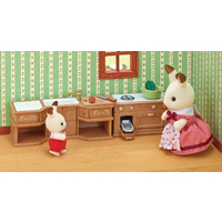 Sylvanian Families Kitchen Stove Sink Counter Set
