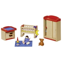 GOKI Dolls House Children's Nursery Furniture - Bright
