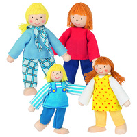 GOKI Flexible Doll Family -  Young Family 4 Doll Set