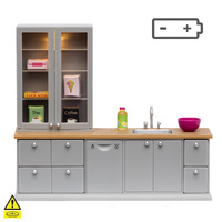 Lundby Washing-Up Sink & Dishwasher - Grey