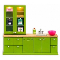 Lundby Smaland Washing-Up Sink + Dishwasher - Green