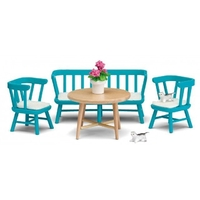Lundby Smaland Kitchen Furniture Set - Blue