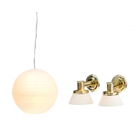 Lundby Smaland Lamp Set - Ceiling & 2 Wall Lamps