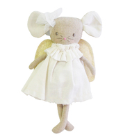 Alimrose Angel Baby Mouse - Ivory & Gold - 25cm