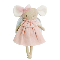 Alimrose Angel Baby Mouse - Silver and Pink - 25cm