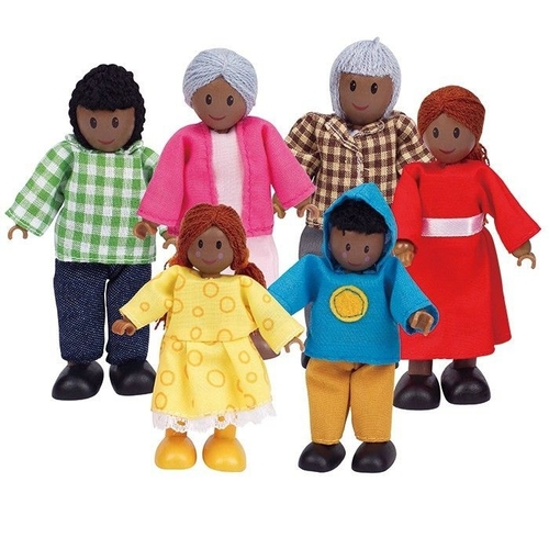 Hape African Dolls Family Set of 6