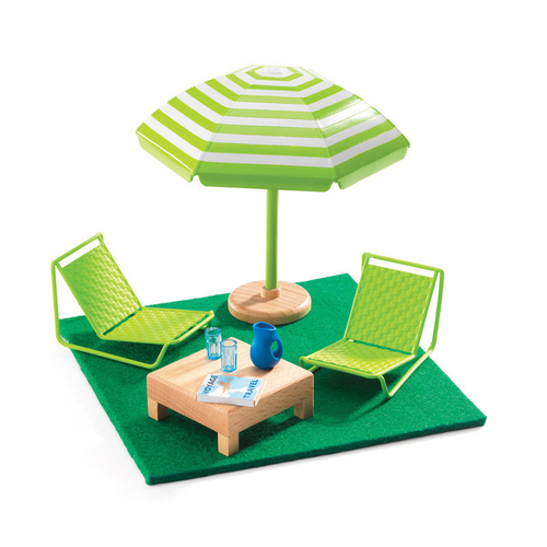 Djeco The Terrace Dolls House Furniture