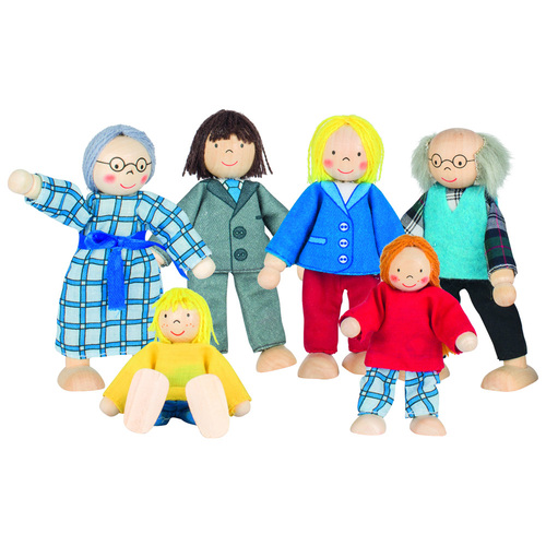 GOKI Flexible Doll Family - City Family 6 Doll Set
