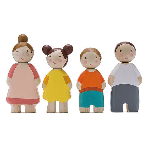 Tender Leaf Toys Four People Doll Family